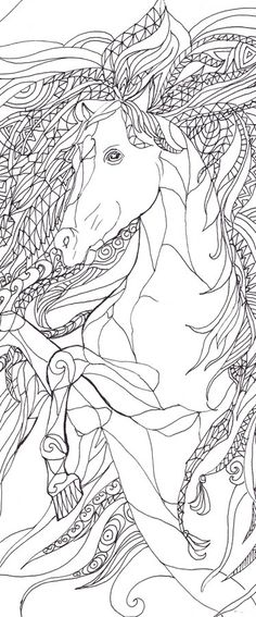 Coloring book Horse  by Valentina Ra.