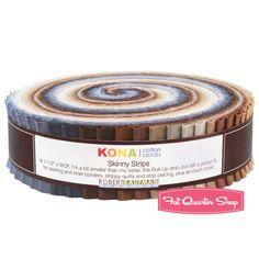 skinny Roll-up fabric bundle roll neutral Robert Kaufman USA New Thing 1, Novelty Fabric, Strip Quilts, Fat Quarter Shop, Robert Kaufman, Neutral Palette, Kona Cotton, Modern Fabric, Quilt Patterns