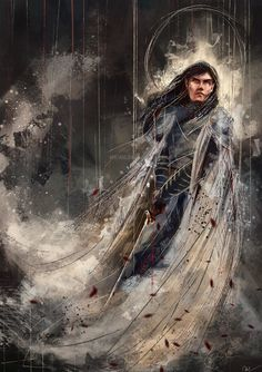 """""""Thus he came alone to Angband's gates [...] and challenged Morgoth to come forth to single combat. And Morgoth came"""". I put off painting Fingolfin for quite some time - he'..."""