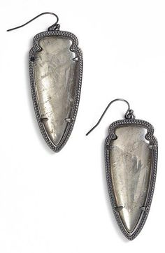 Kendra Scott 'Skylar Spear' Statement Earrings available at #Nordstrom in Mother of Pearl/Gold