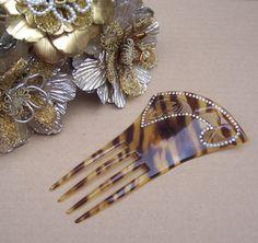 Antique hair comb faux tortoiseshell Spanish by ElrondsEmporium