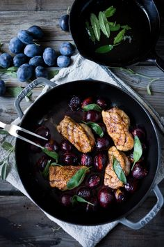 Roasted Plum duck with Cider maple glaze and crispy sage- a simple delicious meal that can be made in 30 minutes! | feastingathome.com