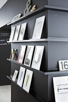use #IKEA RIBBA photo ledges so that you can swap your display anytime you like.