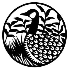 cut paper ornate design Canada Goose