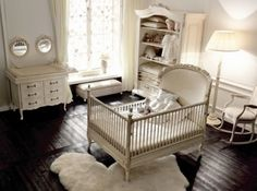 @Stephanie Clark you need an older dresser converted into a changing table like that one on the left! vintage and sweet!