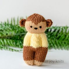 Ravelry: Jungle Buddies pattern by Esther Braithwaite Knitted Doll Patterns, Knitted Dolls, Crochet Dolls, Knitting Patterns Free, Crochet Patterns, Free Pattern, Loom Knitting, Baby Knitting, Knitting Toys