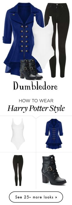 """Harry Potter"" by whiterabbitmadness on Polyvore featuring Topshop and Apt. 9"