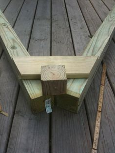 swing set blueprints | Center a scrap block of 4x4 above the trapezoid and draw lines on the ...