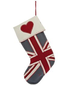 Union Jack Heart Stocking