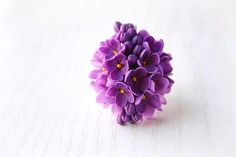 Syringa ring Purple ring Flower ring Bridesmaids by FloralStyle