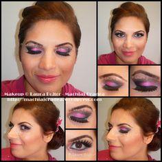 pink, black and purple makeup