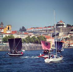 Racing slowly... #Porto #visitporto #portugal #portugaldenorteasul #vilanovadegaia #ribeira #portugal_em_fotos #pontedomluis #barco #race #boat #boats #serradopilar #sandeman #oportocool #ig_porto #oporto #igersportugal #igersporto #douro #douroriver #bluesky #water #yacht #corrida #oldtown #europe #european by mikebruski