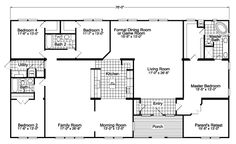 Gotham Home SCWD76F8 Floor Plan | Manufactured and/or Modular Floor Plans available floor plan