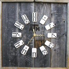 Dominoes clock - 30 Funky Wall Clock Design Ideas Personalizing Interior Decorating with DIY Home Accessories