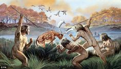 Prehistoric man went HOUSE hunting too: Ancestors sought homes ... Ancient World History, World History Lessons, Panthera Leo Spelaea, Stone Age Man, Homo Habilis, Prehistoric World, Indigenous Tribes, Early Humans, Human Evolution