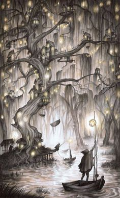 Magical, nature inspired illustrations by Adam Oehlers - Ego - AlterEgo Art And Illustration, Illustration Inspiration, Fantasy Kunst, Fantasy Art, Illustrator, Witch Art, Arte Popular, Fantasy Landscape, Whimsical Art