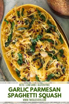 This Garlic Parmesan Spaghetti Squash is one of the tastiest spaghetti squash recipes out there! Not only is it crazy good, but it's easy to make as well! Garlic Parmesan Spaghetti Squash | Spaghetti Squash Recipes | How To Cook Spaghetti Squash | Instant Pot Spaghetti Squash || Keto Spaghetti Squash Recipes | Low Carb Spaghetti Squash Recipes | Spaghetti Alternatives | Spaghetti Substitutes | TwoSleevers | #twosleevers #garlicparmesan #spaghettisquash #instantpot #lowcarbrecipes Low Carb Spaghetti Squash Recipe, Garlic Parmesan Spaghetti Squash, Spaghetti Recipes, Pressure Cooker Spaghetti, Instant Pot Pressure Cooker, Pressure Cooking, Vegetable Recipes, Vegetarian Recipes, Healthy Recipes