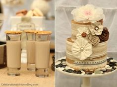 Shabby Chic Bridal Shower – Dessert Table — Celebrations at Home