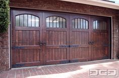 Knotty Alder Custom Garage Doors