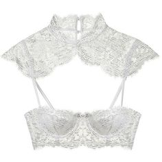 Victoria's Secret Lace Balconet Bra (€355) ❤ liked on Polyvore featuring intimates, bras, lingerie, tops, underwear, bra, white, lace bra, lingerie bras and lace lingerie