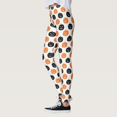 Jack the Lantern Pattern white Halloween Womens Leggings halloween costume ideas, halloween squishmallows, halloween store #halloweencvh2017 #halloweenFlexx #halloweenwitchhatmakeup, back to school, aesthetic wallpaper, y2k fashion Women's Leggings, Leggings Party, Custom Leggings, Girls In Leggings, Best Leggings, Workout Leggings, Leggings Fashion, Halloween Witch Hat, Halloween Leggings