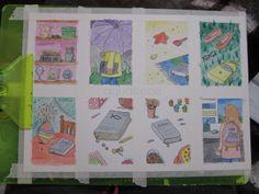 AquaBeca — Mais cartões de nanquim e aquarela :)