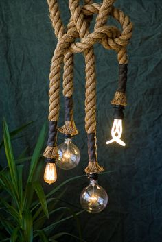 """buy as many as you like. Manila Rope lights (1.5"""" diameter). $395.00 for the whole combo, via Etsy."""