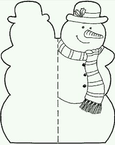 Printable Snowman Cut Outs Pictures Christmas Crafts For Kids, Christmas Activities, Xmas Crafts, Christmas Colors, Winter Christmas, All Things Christmas, Kids Christmas, Diy And Crafts, Christmas Worksheets