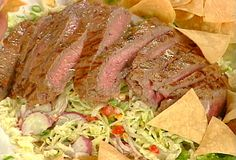 Emeril's Taco Salad with a Roasted Poblano Buttermilk Dressing recipe from Emeril Lagasse via Food Network Italian Salad Recipes, Taco Salad Recipes, Taco Salads, Salad Dressing Recipes, Entree Recipes, Gourmet Recipes, Mexican Food Recipes, Cooking Recipes, Tamales