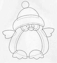 Penguin appliqué pattern 2