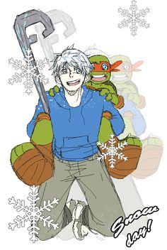 Jack and little mikey Ninja Turtles Art, Teenage Mutant Ninja Turtles, Comic Book Characters, Comic Books, Fictional Characters, Tmnt Mikey, Tmnt Girls, Guardians Of Childhood, Tmnt 2012