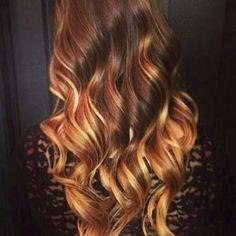 Image result for Dark Auburn to Blonde Ombre