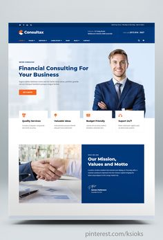 Consultax is a Finance, Consulting & Business WordPress Theme. Corporate Website Design, Website Design Layout, Wordpress Website Design, Website Design Inspiration, Design Layouts, Website Designs, Web Layout, Design Web, Flat Design