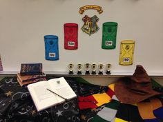 "Harry Potter in the classroom.   Hold a sorting ceremony complete with house scarves and a talking Sorting Hat (use a pre-recording on your cellphone) to sort the students into one of four Hogwarts houses - Gryffindor, Slytherian, Hufflepuff, or Ravenclaw. Students can earn points for following directions, behavior, keeping a clean station, etc. At the end of the quarter award ""Ms. Hager's House Cup"" to the house with the most points. Very motivational classroom management strategy!"