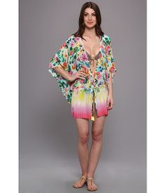 Seafolly Summer Garden Eden Kaftan Mint