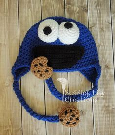 Ravelry: Cookie Monster Crochet Hat pattern by Jamie Huisman                                                                                                                                                                                 More