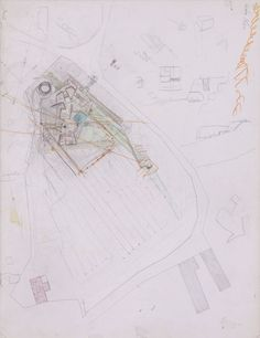 The unpublished working drawings of Carlo Scapa's last completed building:  Villa Ottolenghi site plan