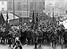 Arbejdere fra B&W på vej mod Christiansborg