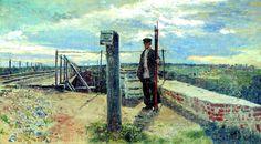 Репин И.Е. Железнодорожный сторож. Хотьково. 1882
