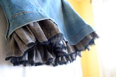 contentedsparrow: skirt refashion-redo-refresh-remake or spunky up your skirt with a peek-a-boo ruffle