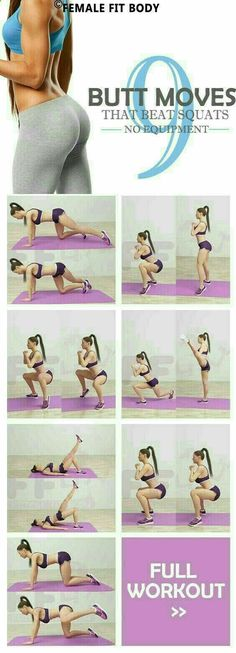 Yoga Fitness Plan - 9 Butt Moves That Beat Squats - Get Your Sexiest.…Without crunches, cardio, or ever setting foot in a gym! Fitness Workouts, Fitness Motivation, Sport Fitness, Fitness Goals, Yoga Fitness, At Home Workouts, Fitness Tips, Health Fitness, Fitness Plan