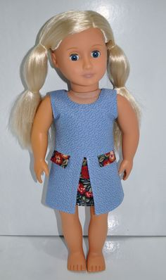 18  Dolls Clothes American Girl Doll Journey Girl Our Generation Blue Sun Dress