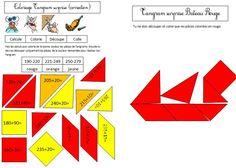 Coloriage tangram magique Calcul CE1