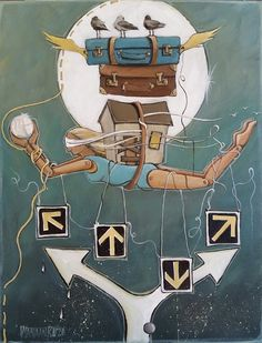 Crossroads, symbolic painting by South African Artist, Mariaan Kotze South African Artists, Buy Art, Symbols, Random, Stuff To Buy, Painting, Fictional Characters, Icons, Painting Art