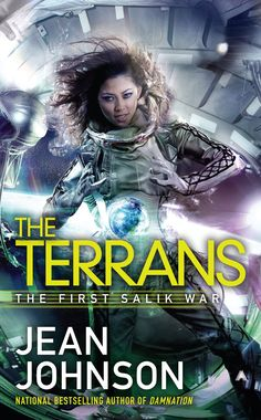 """Here's the cover art for Jean Johnsons, """"The Terrans"""" created by Gene Mollica. this was my first space suit. I loved designing and creating it."""