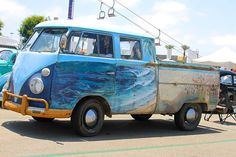 I've long thought I wanted waves on my bus. (When I get one) This double can really is a work of art. ♠ re-pinned by http://www.wfpblogs.com/category/toms-blog/