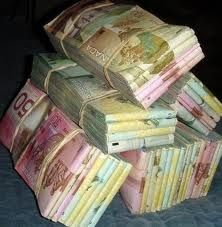 Another portion of my $21,000,000 #affirmations (NOV 26 2014) ...stacks of canadian money - Google Search