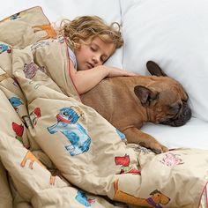 Primaloft Deluxe Throw Blanket in Dog Pound print