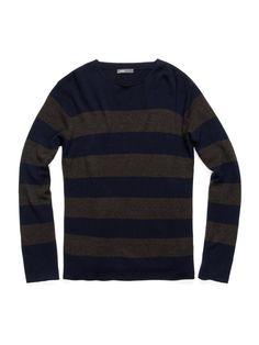 VINCE  Stripe Crewneck Sweater