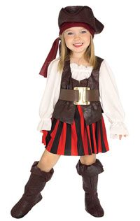 High-Quality Pirate Costume for Less Loot Toddler Pirate Costumes, Toddler Girl Halloween, Halloween Kostüm, Pirate Dress, Girl Pirates, Pirate Fairy, Running Costumes, Dress Up Costumes, Family Costumes
